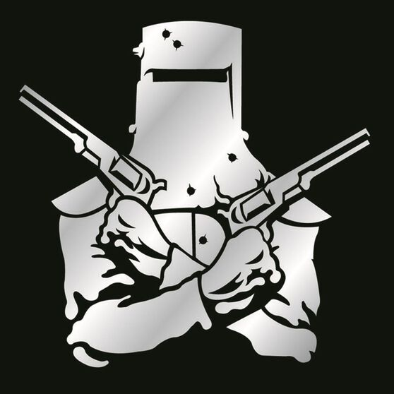 Hot Stuff Sticker - Ned Kelly, Chrome, , scaau_hi-res