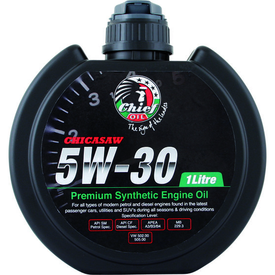 Chief Chicasaw Engine Oil - 5W-30 1 Litre, , scaau_hi-res
