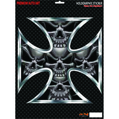 Hot Stuff Sticker - Iron Cross Skull, Vinyl, , scaau_hi-res