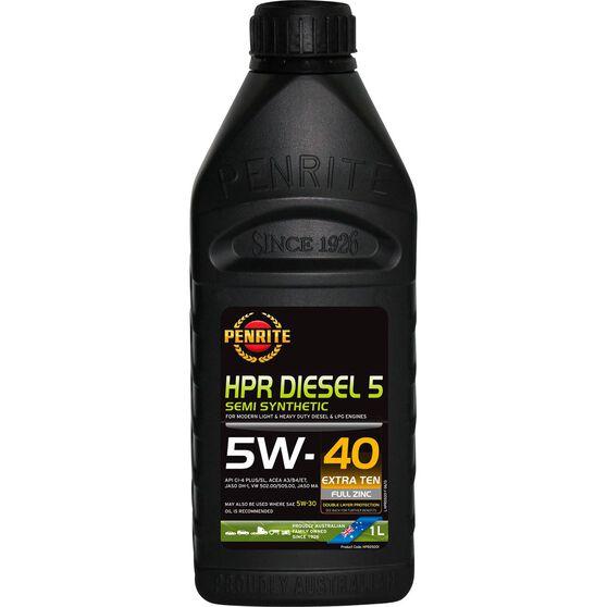 Penrite HPR Diesel 5 Engine Oil 5W-40 1 Litre, , scaau_hi-res