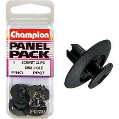 Champion Scrivet Clips - 6mm, PP67, Panel Pack, , scaau_hi-res