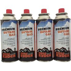 Ridge Ryder Butane Gas - 220g, 4 Pack, , scaau_hi-res