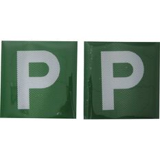 P Plate - Clear Vision, Green VIC & WA, 2 Pack, , scaau_hi-res