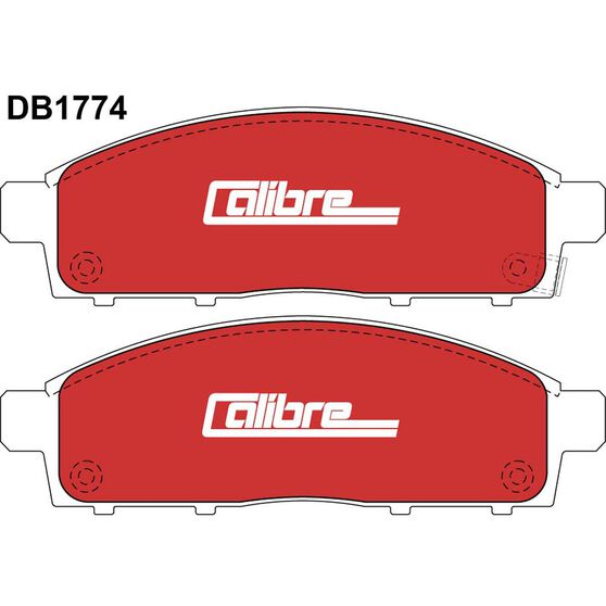 Calibre Disc Brake Pads DB1774CAL, , scaau_hi-res