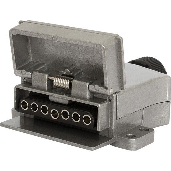 KT Cable Trailer Socket, Metal - Flat, 7 Pin, , scaau_hi-res
