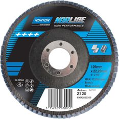 Norton Flap Disc - 120 Grit, 125mm, , scaau_hi-res