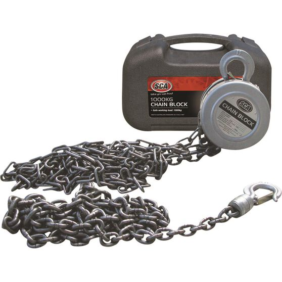 SCA Block and Tackle - 3m Chain, 1000kg, , scaau_hi-res