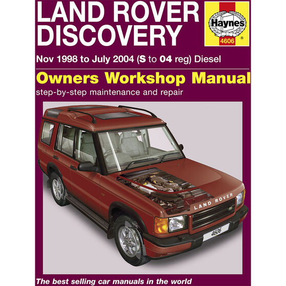 Haynes Car Manual For Land Rover Discovery 1998-2004 - 4606, , scaau_hi-res