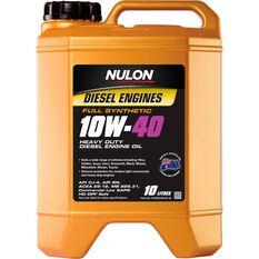 Nulon Synthetic Heavy Duty Diesel Engine Oil - 10W-40 10 Litre, , scaau_hi-res