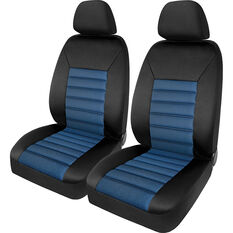 SCA Memory Foam Seat Cover - Blue Adjustable Headrests Front Pair Size 30, , scaau_hi-res