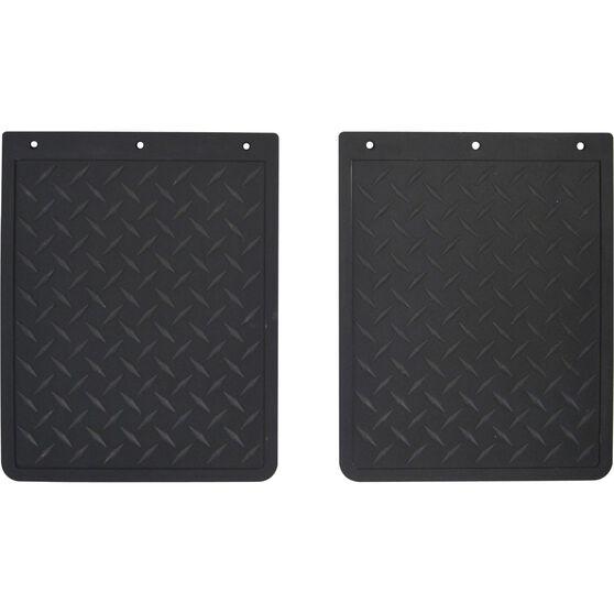 SCA 4X4 Mudguards - Checkerplate, Pair, 280mm x 350mm, , scaau_hi-res