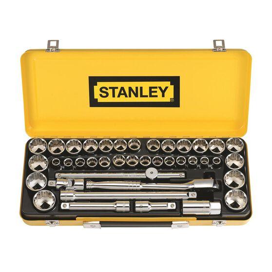 Stanley Socket Set - 1 / 2 inch Drive, Metric / Imperial, 40 Piece, , scaau_hi-res