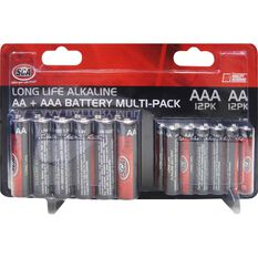 Battery - Alkaline, AA & AAA, 24 Pack, , scaau_hi-res