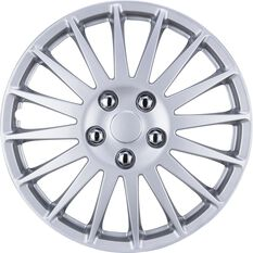SCA Wheel Covers - Turbine, Silver, 15in, Set of 4, , scaau_hi-res