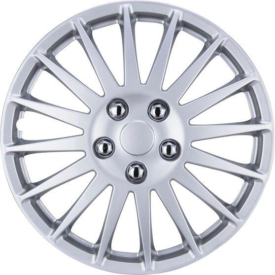 SCA Wheel Covers - Turbine, Silver, 15in, Set of 4, , scaau_hi-res