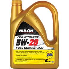 Nulon Fuel Conserving Synthetic Engine Oil - 5W-20 5 Litre, , scaau_hi-res