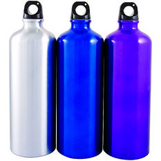 Sports Bottle - Aluminium, 1 Litre, , scaau_hi-res