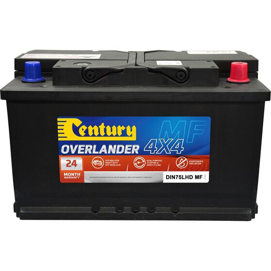 Century Overlander 4x4 Battery DIN75LHD MF, , scaau_hi-res