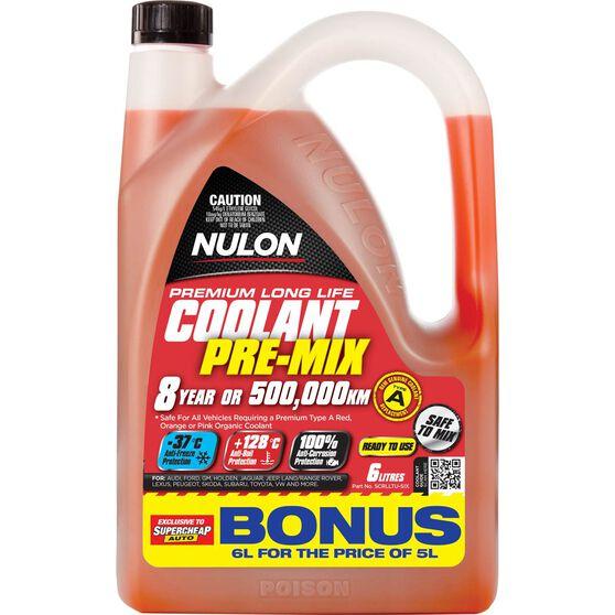 Nulon Red Premium Long Life Coolant Premix 6 Litre, , scaau_hi-res