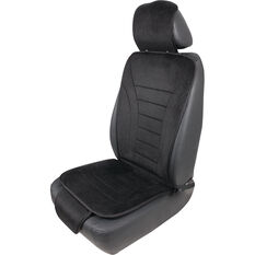 Cabin Crew Reversible Seat Cushion - Black Velour/Mesh, , scaau_hi-res