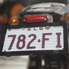 Altrex Motorbike Number Plate Protector - With Lines 9DMBL, , scaau_hi-res