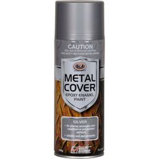 Metal Cover Aerosol Rust Paint - Enamel,  Silver, 300g, , scaau_hi-res