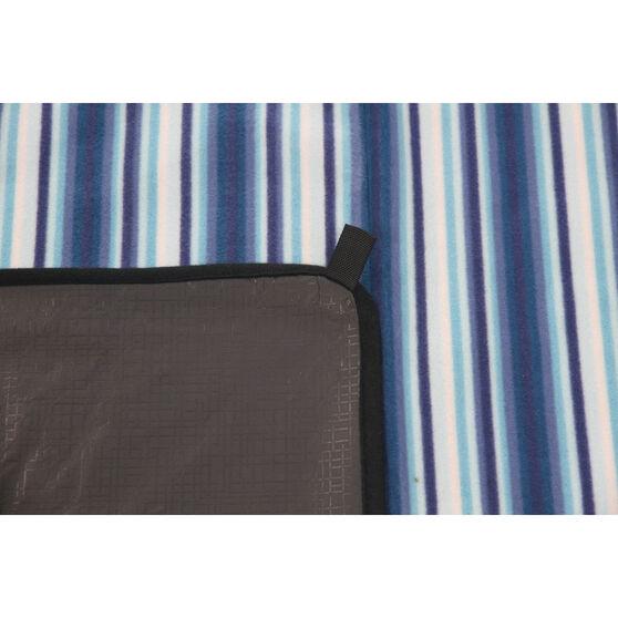 SCA Picnic Rug - Blue Stripe, 3m x 3m, , scaau_hi-res