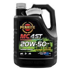 Penrite MC-4 Motorcycle Oil - 20W-50, 4 Litre, , scaau_hi-res