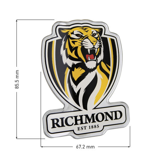Richmond AFL Supporter Logo - Lensed Chrome Finish, , scaau_hi-res