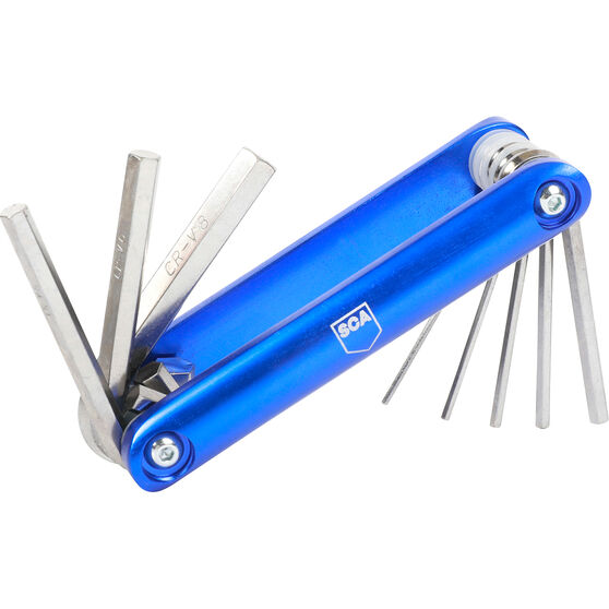 SCA Folding Hex Key Set - Metric, 8 Pieces, , scaau_hi-res
