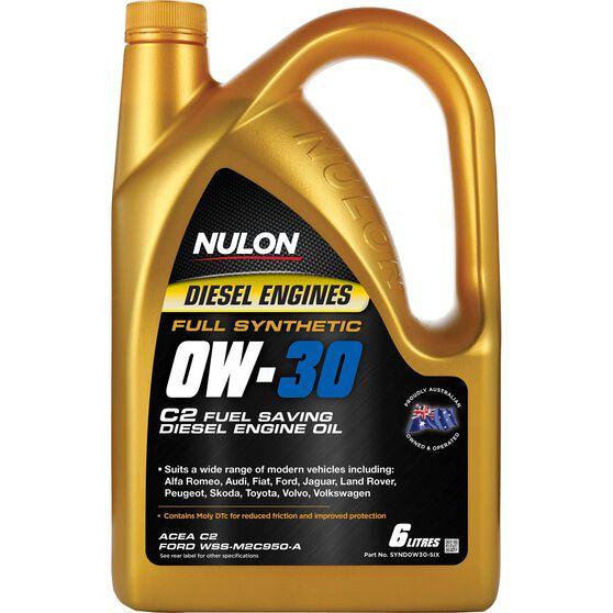 Nulon C2 Fuel Conserving Diesel Engine Oil - 0W-30 6 Litre, , scaau_hi-res