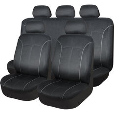 SCA Mesh Seat Cover Pack - Black Adjustable Headrests Size 30 and 06H Airbag Compatible, , scaau_hi-res