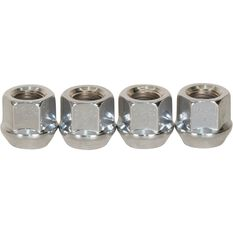 Wheel Nuts, Tapered Open End, Chrome - 1/2, , scaau_hi-res