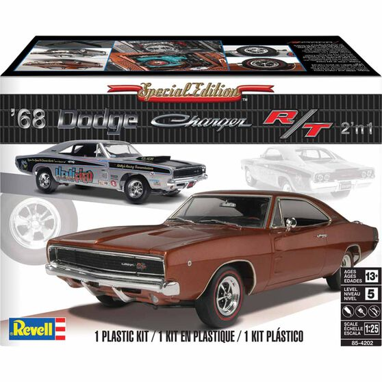 Revell '68 Dodge Charger R/T 1:25 Scale Model Kit, , scaau_hi-res