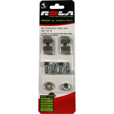 Rola Drop & Turn Channel Nut - M8, 4 Pack, , scaau_hi-res