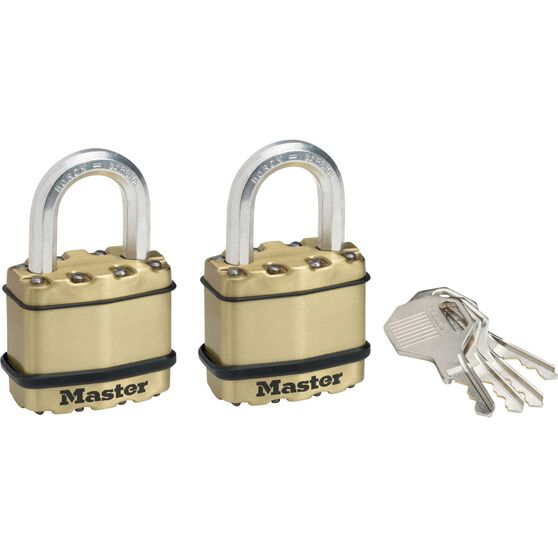 Master Lock Excell Padlock - 45mm, 2 Pack, , scaau_hi-res