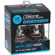 Calibre Headlight Globe H11 12V 55W White Light, , scaau_hi-res