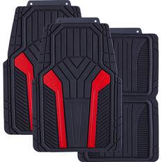 SCA Carbon Fibre Car Floor Mats - Red Set of 4, , scaau_hi-res