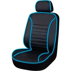 Light Up To Music Seat Cover - Black/Blue, Size 30, Single, Airbag Compatible, , scaau_hi-res