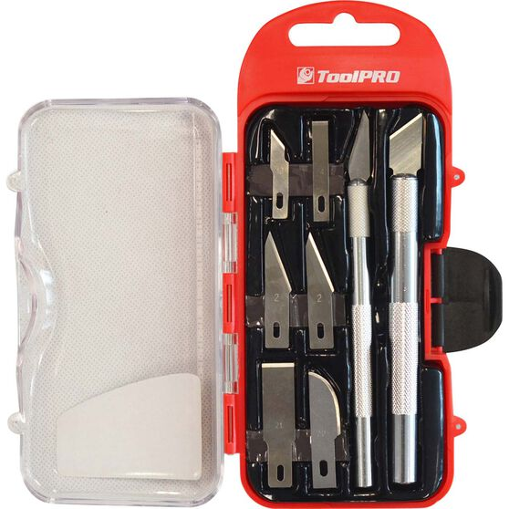 ToolPRO Hobby Knife Set - 8 Pieces, , scaau_hi-res