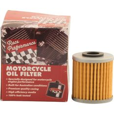 Race Performance Motorcycle Oil Filter - RP112, , scaau_hi-res