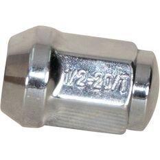 Wheel Nuts, Tapered, Chrome - 1/2, , scaau_hi-res