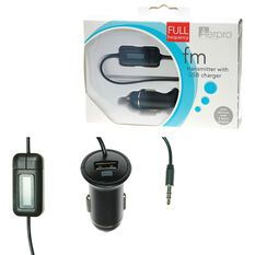 FM Transmitter with USB Charger, , scaau_hi-res