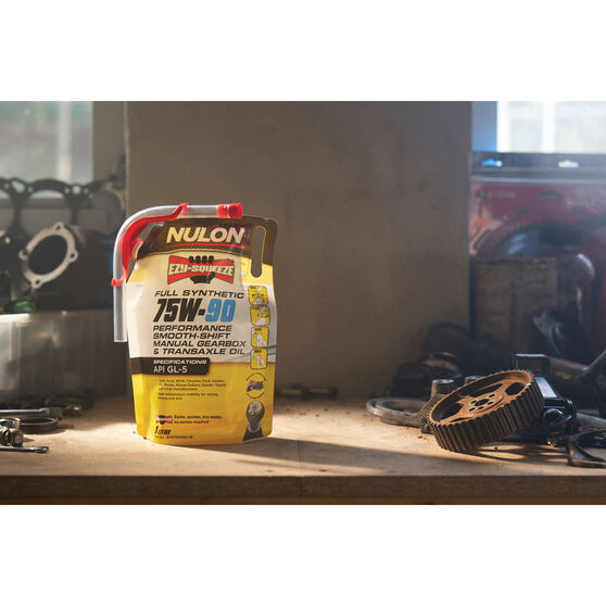 Nulon EZY-SQUEEZE Performance Smooth Shift Manual Gearbox & Transaxle Oil 75W-90 1 Litre, , scaau_hi-res
