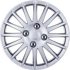 SCA Wheel Covers - Turbine, Silver, 13in, Set of 4, , scaau_hi-res