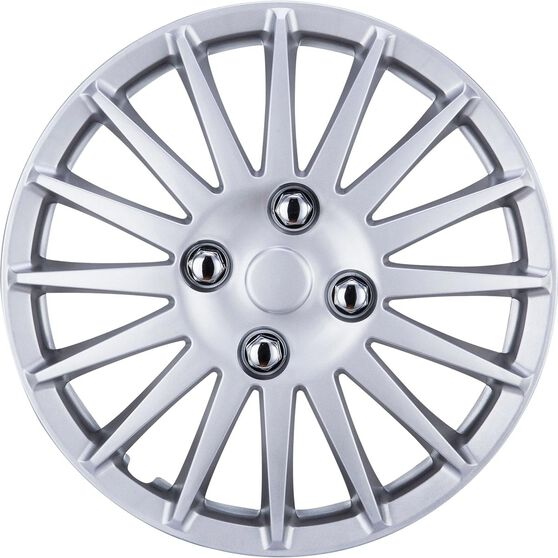 SCA Wheel Covers - Turbine, Silver, 13in, Set of 4, , scaau_hi-res