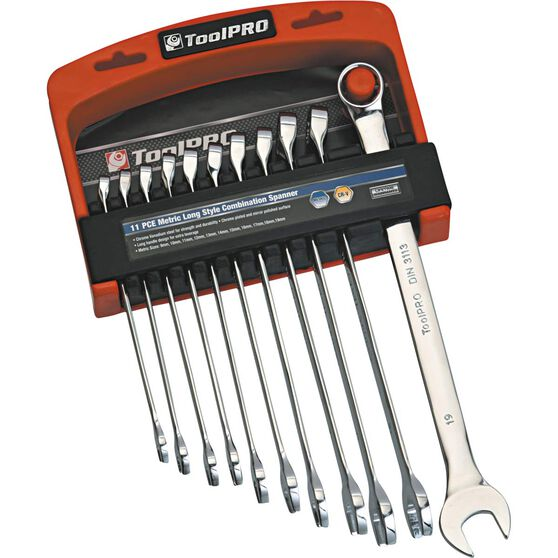 ToolPRO Spanner Set - Extra Long, Combination, 11 Piece, , scaau_hi-res