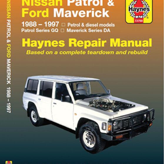 Haynes Car Manual For Nissan Patrol / Ford Maverick 1988-1997 - 72760, , scaau_hi-res