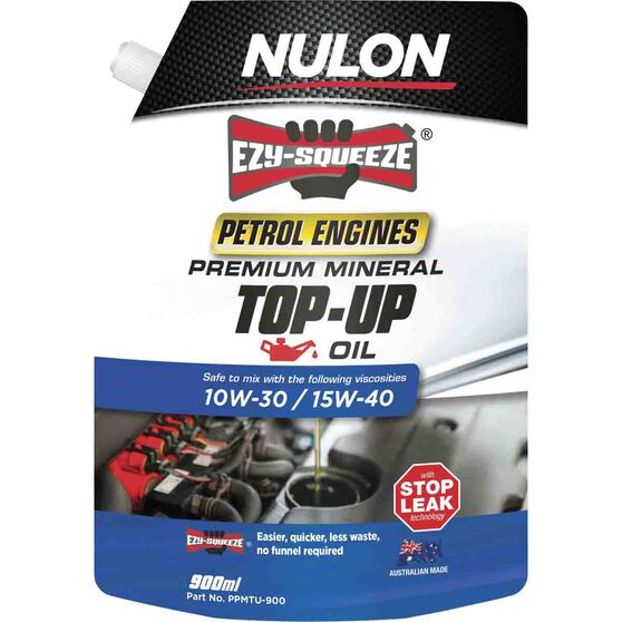 Nulon Ezy Squeeze Premium Mineral Top Up Oil 900mL, , scaau_hi-res