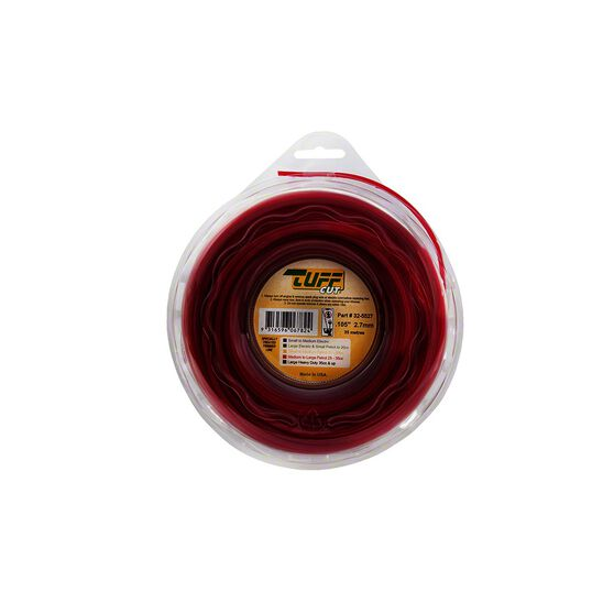 Tuff Cut Trimmer Line - Red, 2.7mm X 35m, , scaau_hi-res